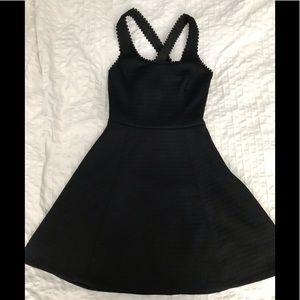 Black club Monaco skater dress